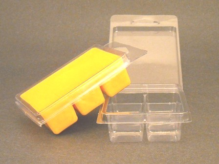6 Cavity Clear Clamshell Tart Mold Container
