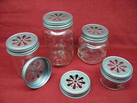 DAISY Cut Mason Jar Lids - PEWTER - BACK ORDERED