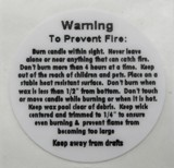 photograph regarding Free Printable Candle Warning Labels identified as Regular and Tailor made Candle, Incense and Item Warning